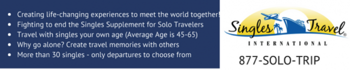 Solo Travel Deals With No Single Supplement - Solo vacation packages