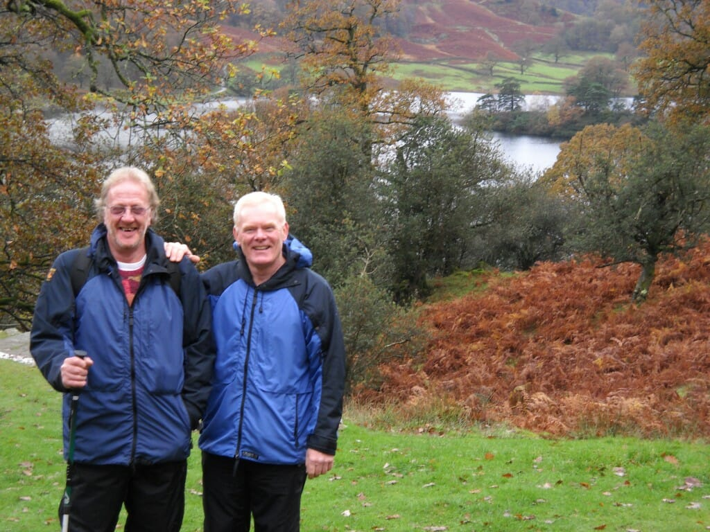 Chris & Peter, my guides alone the coffin walk. Falling in Love with the Lake District