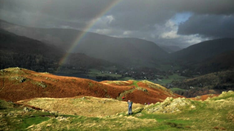 photo, image, fells, rainbow, lake district