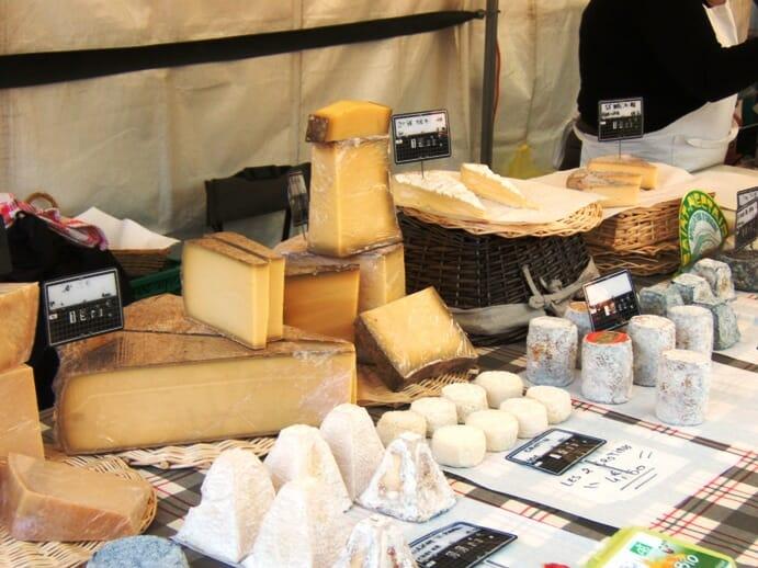 photo, image, cheese, paris market
