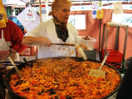 photo, image, paella, paris market