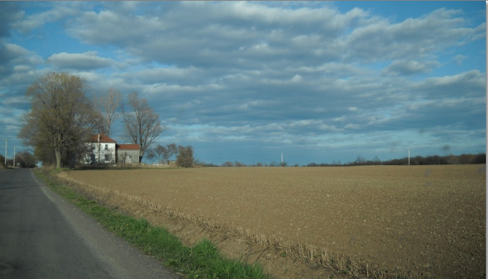 Country road and farm