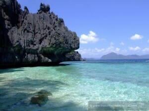 Blue waters of Palawan Philippines