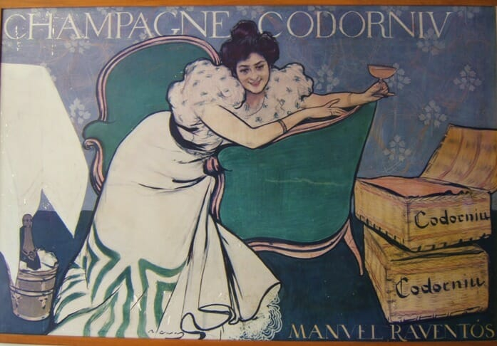 photo, image, vintage advertising poster, codorniu