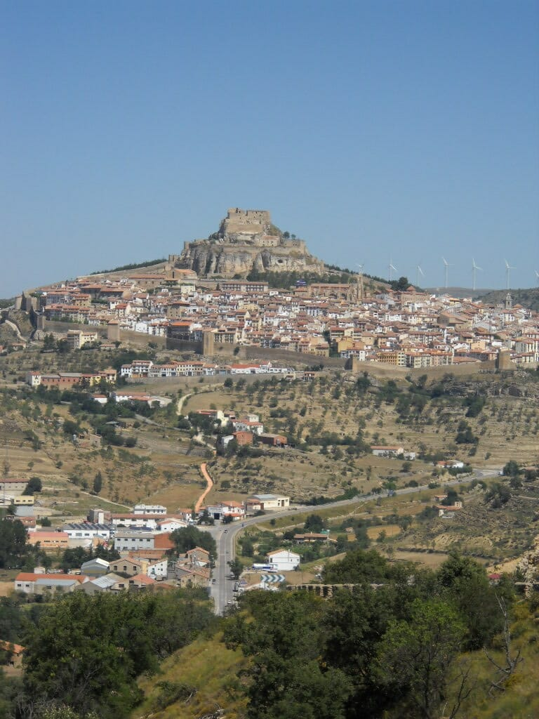 View of ancient city on mountain