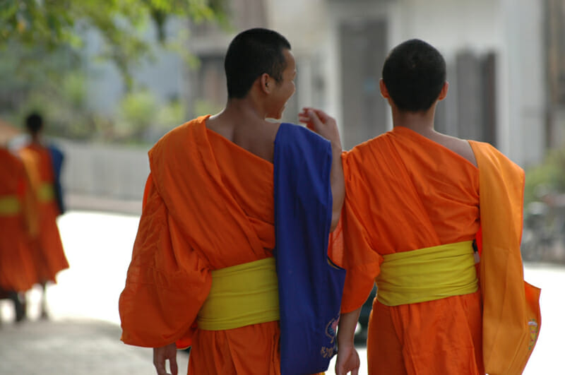 Monks in Laos