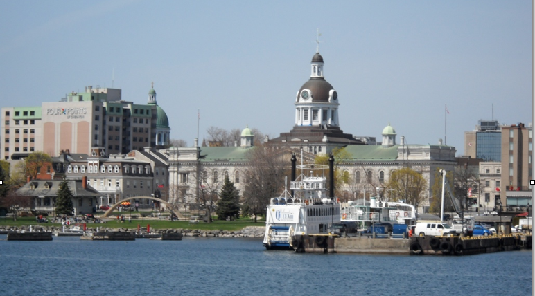 Kingston Ontario from the ferry. solo travel to canada