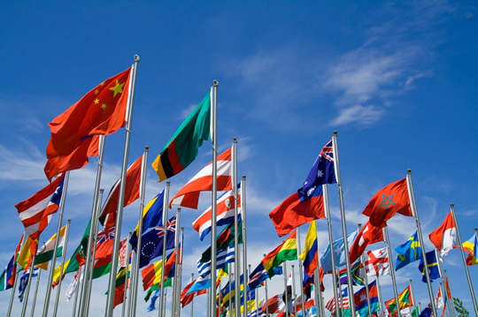 photo, image, flags of many countries, respecting local cultures