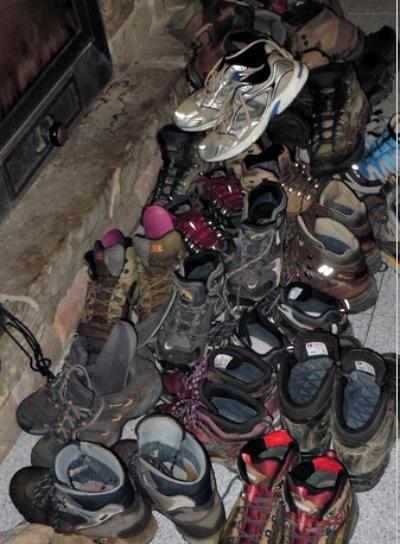 photo, image, hiking boots, el camino