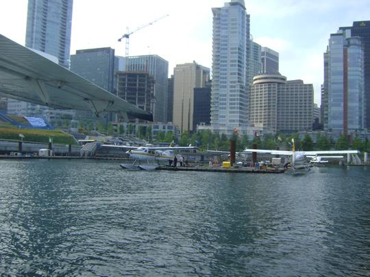 waterplane shot of Vancouver harbor