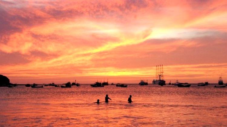 photo, image, sunset, san juan de sur, solo travel nicaragua
