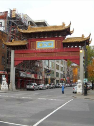 Entrance to China Town on Rue St. Laurent (The Main) Montreal