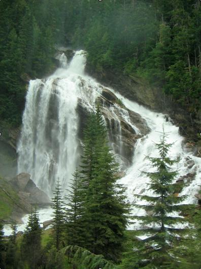 Waterfall in Rockies near Jasper, Alberta