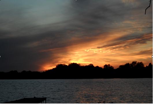 Sunset over Rice Lake, Ontario