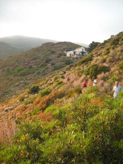 hiking along side of mountain