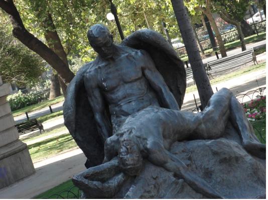 Outside Museo de Bellas Artes Santiago
