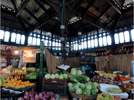 Mercado Central has some fruits and vegetables as well. Also lots of restaurants