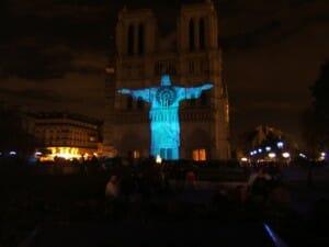 Pic of the Week: Blue Jesus in Paris, France