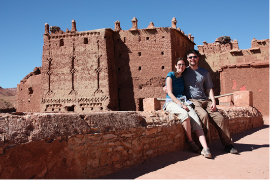 Bryan and wife Laurie in Ait Ben Haddou, Morocco