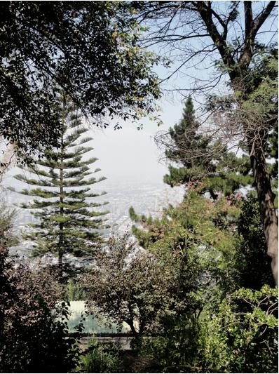 View for San Cristobal Santiago Chile