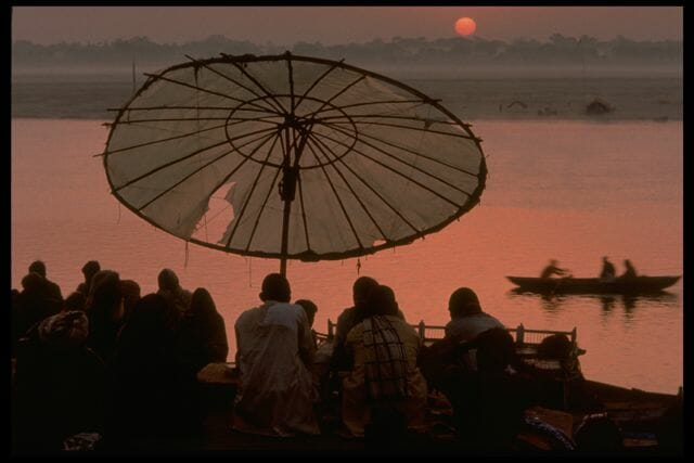 Sunrise, from Asi Ghat, Varanasi