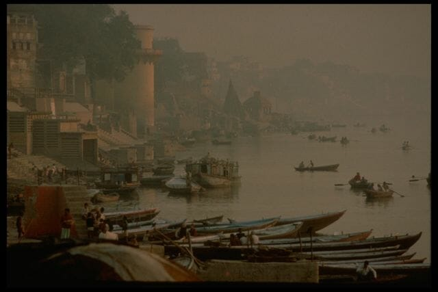 Upstream from Tulsi Ghat, Varanasi