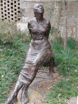 Seated woman Brookgreen Gardens, myrtle beach