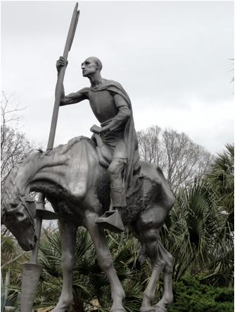 Don Quixote in Brookgreen Gardens, myrtle beach