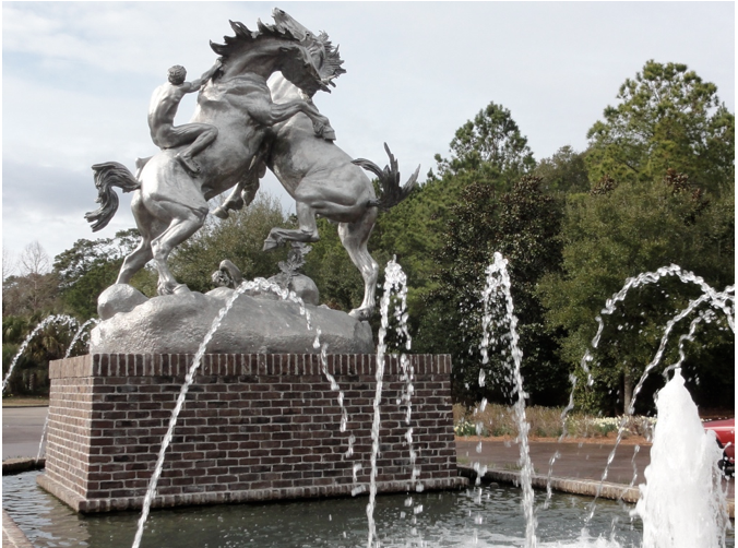 Fighting Stallions Brookgreen Gardens