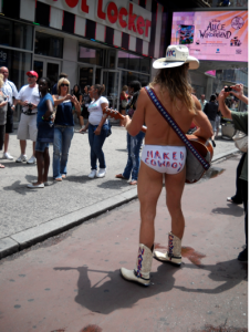 The Naked Cowboy in New York City