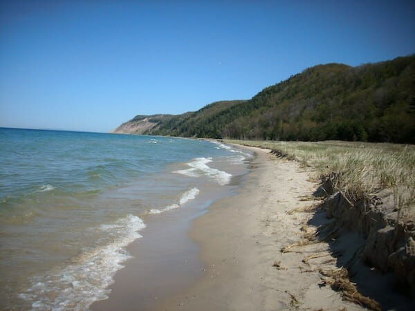 The national lakeshore, solo hiking
