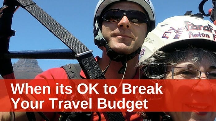 break travel budget