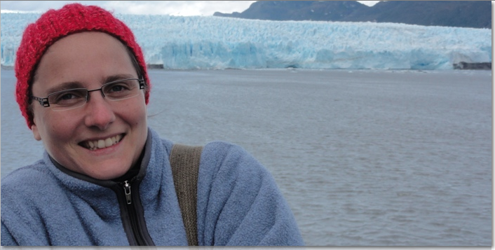 My friend Noemie, one of many out to see the glacier