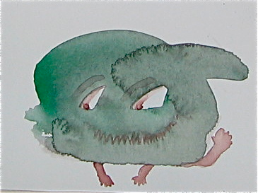 Little water color creature