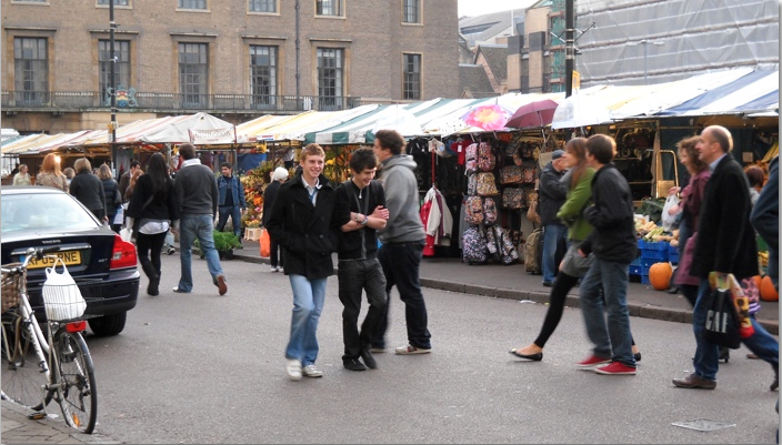 Open market in Cambridge