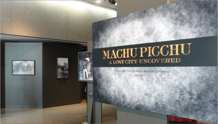 Machu Picchu exhibit at the National Geographic Society