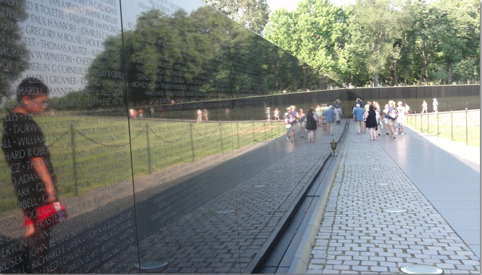 The Vietnam Vetrans Memorial Wall