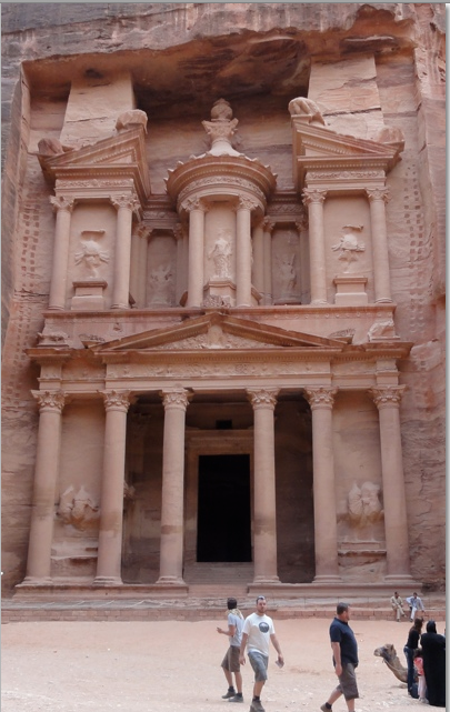 The treasury building Petra