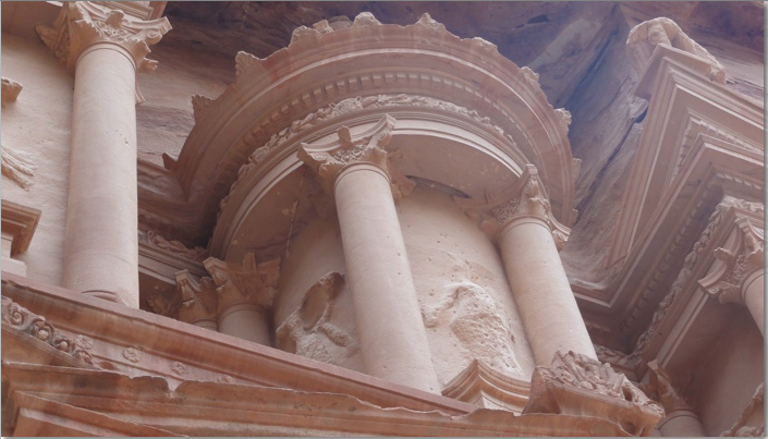 Architectural elemment of the Treasury Building Petra