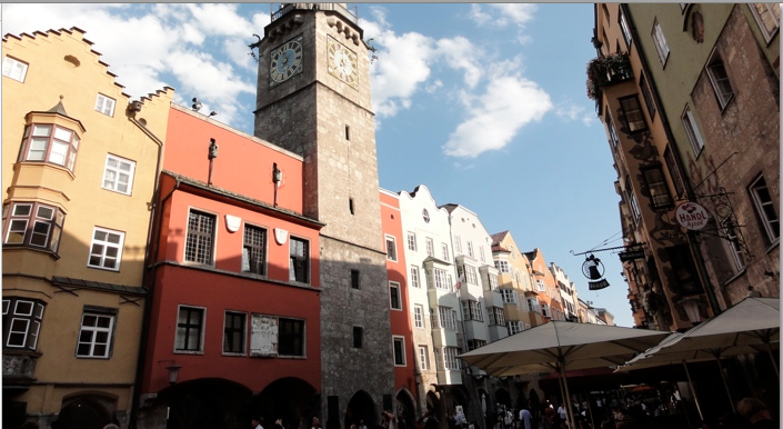 Photo of the old town of Innsbruck