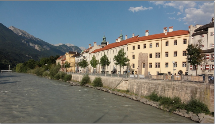 View of the Innsbruck and river Inn