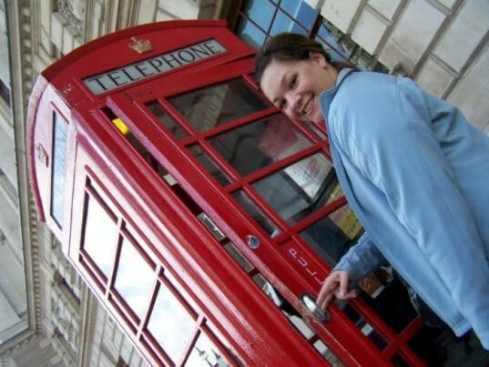 photo, image, london, phone booth, first time solo travel