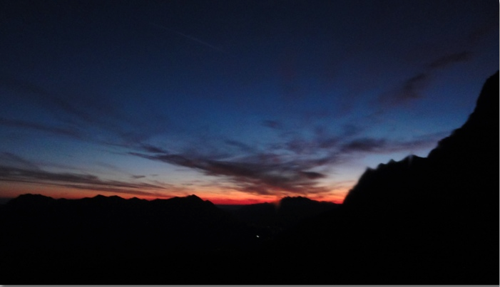 Zugspitze Sunrise Greets Not-so-Solo Traveler