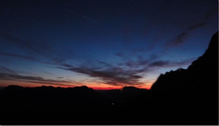 dramatic sky before sunrise photo