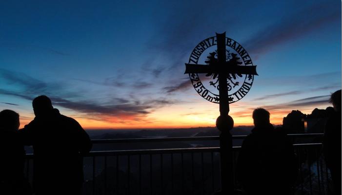 people waiting for sunrise