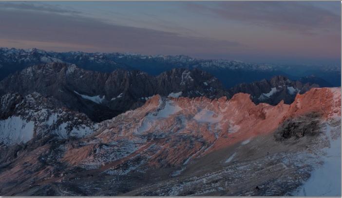 sunrise on alps
