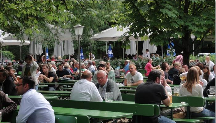 Beer Garden in the Englischer Garten Munich