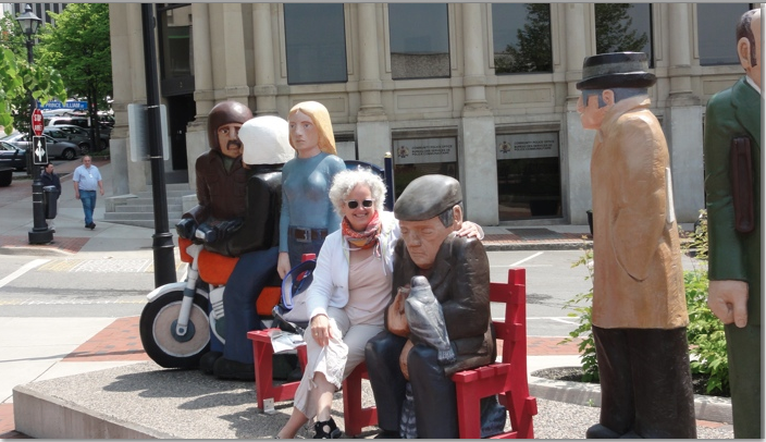 The people and sculptures of Saint John New Brunswick photo