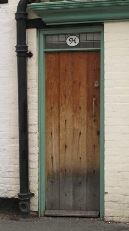 photo, image, door, tide marks, tewkesbury