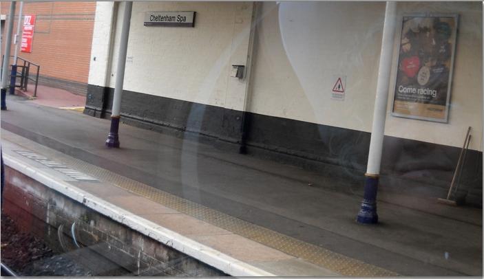 reflection in train window